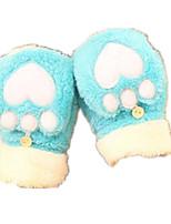 la moitié est un amour en peluche gants chauds (bleu ciel)