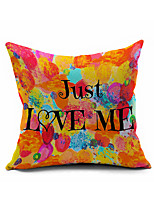 Letters Cotton Linen Throw Pillow Case Home Decorative  Cushion Cover Pillowcase Car Pillow cover(Set of 1)