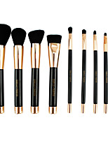 9 Makeup Brushes Set Synthetic Hair Professional / Eco-friendly / Portable Wood Face / Eye / Lip Others