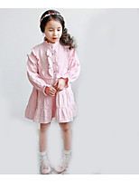 Girl's Going out Solid Dress / Overall & JumpsuitCotton Summer / Spring Pink