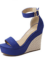 Women's Sandals Summer Others Suede Casual Wedge Heel Others Blue / Almond Others
