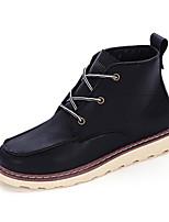 Черный Коричневый Желтый-Мужской-Повседневный-Полиуретан-На плоской подошве-Удобная обувь-Ботинки
