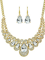 New Coming Colorful Rhinestone Statement Jewelry Set for Women