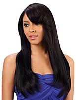 Natual черный # 1b невидимый глубокий кружева л часть человеческих волос прямые человеческие волосы 20inch фронта шнурка