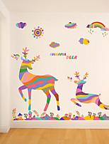 Dieren / Kerstmis Wall Stickers Vliegtuig Muurstickers Decoratieve Muurstickers,pvc Materiaal Verwijderbaar Huisdecoratie Muursticker