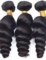 Natural Color Hair Weaves Brazilian Texture Loose Wave 12 Months 3 Pieces hair weaves