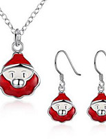 Jewelry 1 Necklace 1 Pair of Earrings Party Daily Casual 1set Women White Red Wedding Gifts