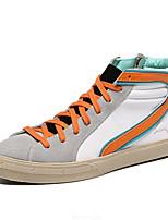 Оранжевый-Женский-На каждый день-ЗамшаУдобная обувь-Кеды