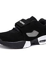 Men's Fashion Basketball Shoes High Top Shoes Casual Air Cushion Sports Shoes Flat Heel Black And White / Black EU37-43