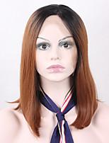 courte ombre cheveux T1B / 33 couleurs perruque de cheveux avant de dentelle de bob perruque synthétique résistant à la chaleur droite