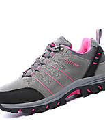 Women's Athletic Shoes Spring Summer Fall Winter Comfort Suede Outdoor Flat Heel Lace-up Purple Gray Hiking
