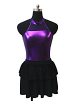 Latin Dance Outfits Women's / Children's Performance Velvet / Metal 1 Piece Sleeveless Skirt / Leotard
