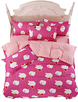 Mingjie Wonderful Pink Cloud Bedding Sets 4PCS for Twin Full Queen King Size from China Contian 1 Duvet Cover 1 Flatsheet 2 Pillowcases