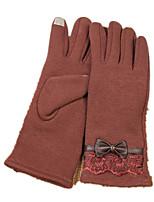 Gants en tricot plus chaud de l'écran tactile (brun)