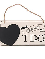 Wooden Wedding Wedding Sign The Countdown For Wedding Heart-Shaped Blackboard Wedding Listed