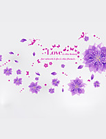 Florals Wall Stickers Botanical Wall Stickers Decorative Wall Stickers,PVC  Removable Wall Decal
