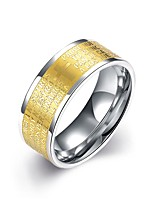 Ring Non Stone Wedding / Party / Daily / Casual Jewelry Stainless Steel / Gold Plated Men Ring 1pc,7 / 8 / 9 / 10 Yellow Gold