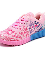 Women's Sneakers Fall Tulle Athletic Flat Heel Others Green Pink
