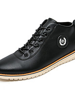 Men's Fashion Leather Shoes High Top Shoes Casual Walking Shoes Breathable Flat Heel Black And Brown EU39-43