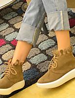 Women's Sneakers Spring Fall Comfort Suede Casual Black Khaki