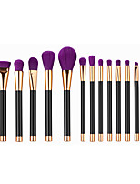 15pcs Makeup Brushes Set Powder Foundation Eyeshadow Eyeliner Lip Contour Concealer Smudge Brush Tool Purple