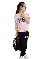 Girl Casual/Daily Solid Sets,Cotton Spring / Fall Long Sleeve Clothing Set