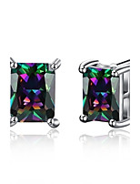 Stud Earrings Zircon Cubic Zirconia Copper Dark Blue Jewelry Wedding Party Halloween Daily Casual Sports 1 pair