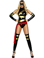 Cosplay Costumes Super Heroes / Spider Movie Cosplay Black Solid Leotard/Onesie / Belt Halloween / Carnival Female Polyester