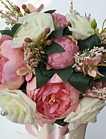 Wedding Flowers Round Roses Peonies Bouquets Wedding Party/ Evening Satin Foam 9.84