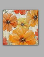 Peint à la main Abstrait / A fleurs/Botanique Peintures à l'huile,Modern / Classique Un Panneau Toile Peinture à l'huile Hang-peint For