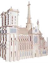 Пазлы Деревянные пазлы Строительные блоки DIY игрушки Знаменитое здание 1 Дерево Со стразами Модели и конструкторы