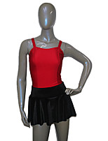 Latin Dance Outfits Women's / Children's Performance Nylon / Velvet / Lycra 1 Piece Sleeveless Skirt / Leotard