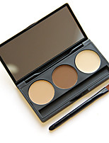 Cosmetic Makeup Kit 3 Colors Eyebrow Powder Eye Brow Palette with Brush Mirror