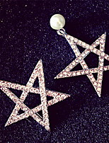 Korean Women Jewelry Five-pointed Star Daily Casual Alloy Stud Earrings