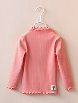 Girl Casual/Daily Solid Blouse,Cotton Fall Long Sleeve
