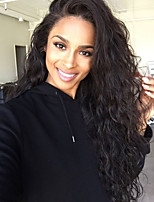 Deep Wave Lace Wig 150% Density Brazilian Virgin Hair Natural Color Lace Front Wig  for Black Women