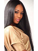 Brazilian Virgin Human Hair Natural Black Color Full Lace & Lace Front Straight Wig With Baby Hair