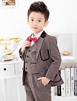 Polyester Oblek pro mládence - 4 Pieces Obsahuje sako / Tričko / Vesta / Kalhoty / Motýlek / Dlouhá kravata