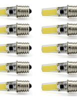 9W E17 Spot LED T 1 COB 350 lm Blanc Chaud / Blanc Froid Décorative V 10 pièces
