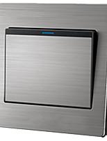 Metal Steel Surface Wall Switch Socket Panel Single Wall Switch