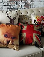 1 Stück Baumwolle / Leinen Kissenbezug,Urlaub Akzent dekorativen