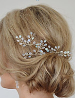 Women's Simple Bridal Hair Accessories Handmade Crystal Hairpin Unique Design Beautiful Flowers Hairpins  1 Piece