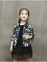 Girl Casual/Daily Floral Suit & Blazer,Cotton Fall Long Sleeve