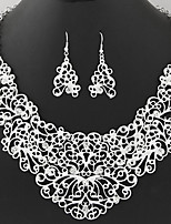 Jewelry 1 Necklace 1 Pair of Earrings Rhinestone Party Daily 1set Women Gold Silver Wedding Gifts