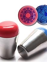1Set  Metal Silver Handle Jumbo Silicone Stamper Scraper Dia 4cm