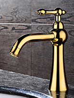 HPB Contemporary Ti-PVD Finish Brass One Hole Single Handle Sink Faucet