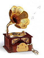 1PCS Creative Music Desktop Decoration Retro Styling Phonograph Gift Box