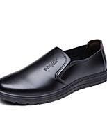 Herren-Loafers & Slip-Ons-Lässig-PU-Flacher Absatz-Komfort-Schwarz
