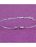 Women's Anklet/Bracelet Silver Plated Fashion Heart Silver Women's Jewelry Wedding Party Daily