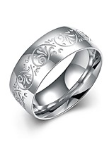 Ring Non Stone Halloween / Party / Daily / Casual / Sports Jewelry Silver Plated Men Ring 1pc,7 / 8 / 10 Silver